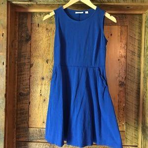 Cobalt blue fit n flare dress